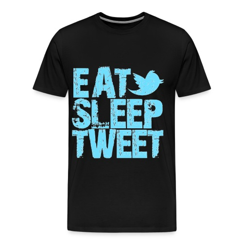 twitter addict - Men's Premium T-Shirt