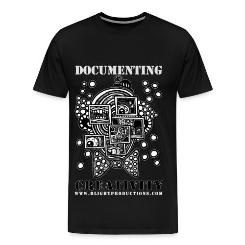 DocumentingCreativity B&W - Men's Premium T-Shirt