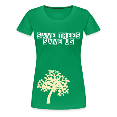 save trees save us txt  Trees Women's Plus Size Basic T-Shirt