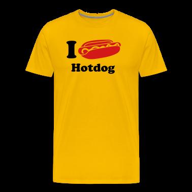 i_love_hotdog_fastfood_2c T-Shirts