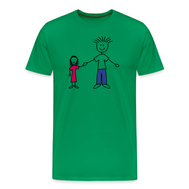 family_dad_and_girl_3c T-Shirts