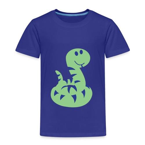 Toddler Cute Snake Print Tshirt - Toddler Premium T-Shirt