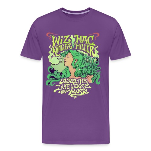 Wiz Khalifa and Mac Miller Under the Influence of Music Shirt PURPLE - Men's Premium T-Shirt