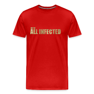 T-Shirts ~ Men's Premium T-Shirt ~ We're All Infected - The Walking Dead   Robot Plunger