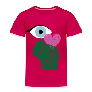 Eye Heart Wisconsin - Toddler Premium T-Shirt