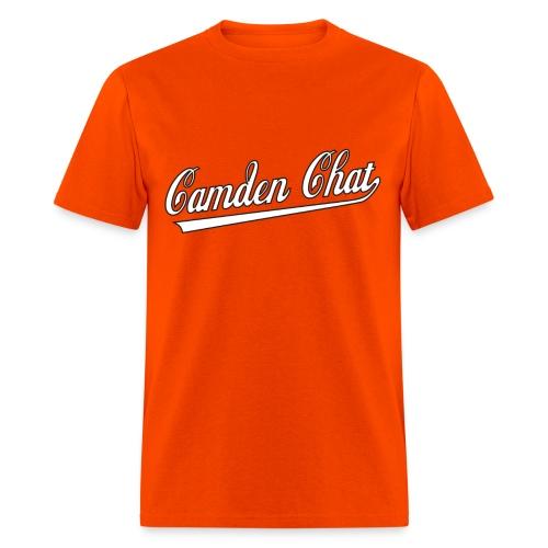 Men's FRONT/BACK: CC/best shape (orange) - Men's T-Shirt