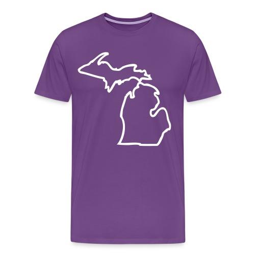Michigan Outline - Men's Premium T-Shirt