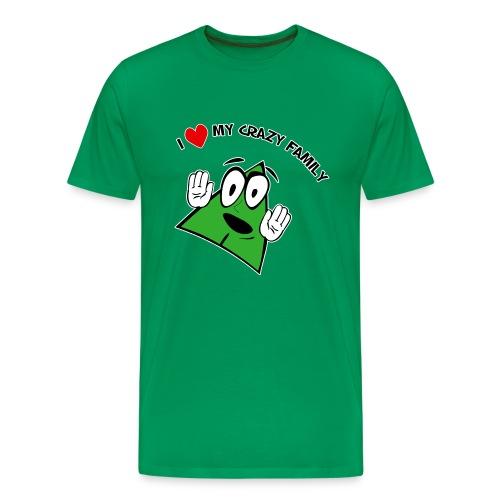 I Love My Crazy Family mens tee - Men's Premium T-Shirt