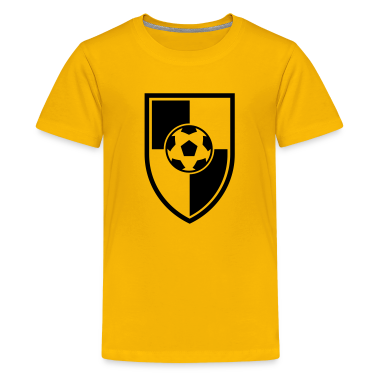 Soccer Blazon Logo 03_1c Kids' Shirts