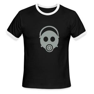 Gas Mask Ringer T - Men's Ringer T-Shirt