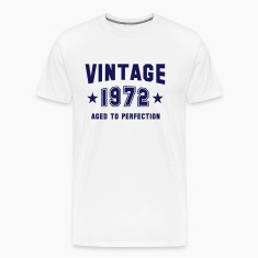 VINTAGE 1972 - Birthday T-Shirt MY