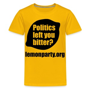 Politics left you bitter? lemon party shirt - Kids' Premium T-Shirt