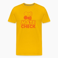MATE CHECK sexy chess pieces wordplay on checkmate T-Shirts