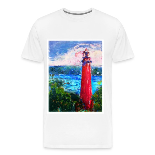 Soft Mens T-Shirt Lighthouse - Men's Premium T-Shirt