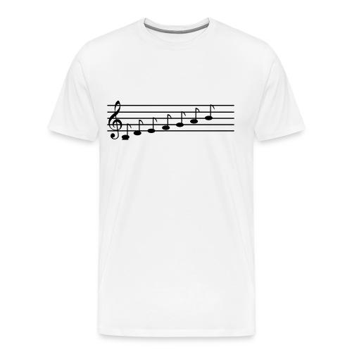 Musical Notes (Men's) - Men's Premium T-Shirt