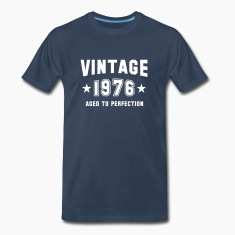 VINTAGE 1976 - Birthday T-Shirt WN