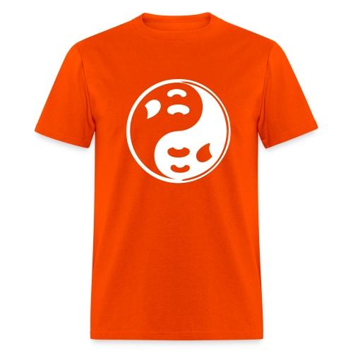 Orange Ghost Ying Yang Shirt - Men's T-Shirt