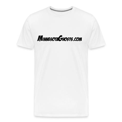 MinnesotaGhosts.com Dark Ink Shirt - Men's Premium T-Shirt