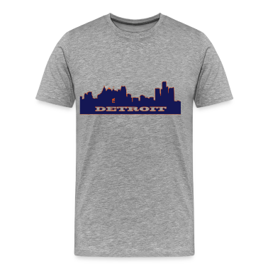 Detroit skyline 2 tone T-Shirts