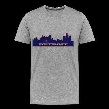 Detroit skyline 2 tone T-Shirts