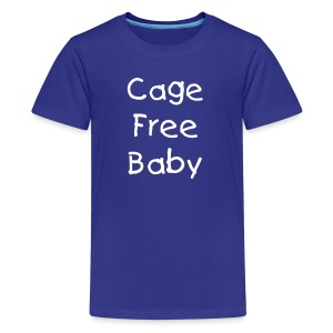 Cage Free Baby [Text Change Available]  - Kids' Premium T-Shirt