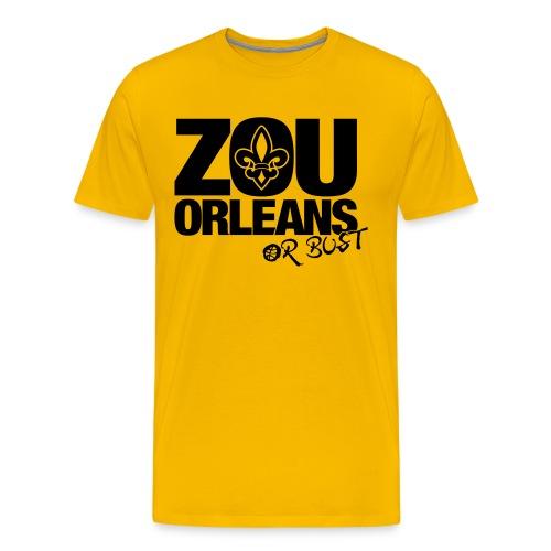 ZOU ORLEANS or BUST - Men's Premium T-Shirt