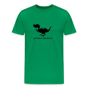 Pterodactyl ~ Eat Like a Dinosaur - light shirt - Men's Premium T-Shirt