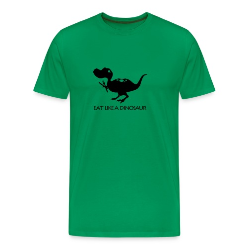 Pterodactyl ~ Eat Like a Dinosaur - light shirt - Men's Premium T-Shirt