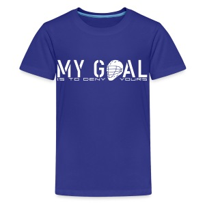 My Goal Is To Deny Yours (Lax) Kids' T-Shirt - Kids' Premium T-Shirt