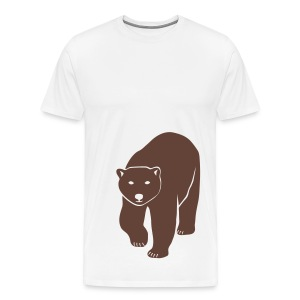 animal t-shirt polar bear ice black white penguin knut climate change stop global warming - Men's Premium T-Shirt