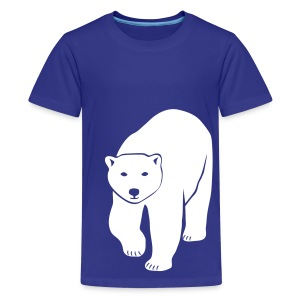 animal t-shirt polar bear ice black white penguin knut climate change stop global warming - Kids' Premium T-Shirt
