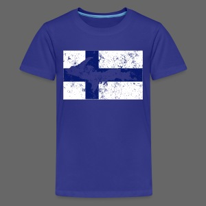 Finnish Flag U.P. - Kids' Premium T-Shirt
