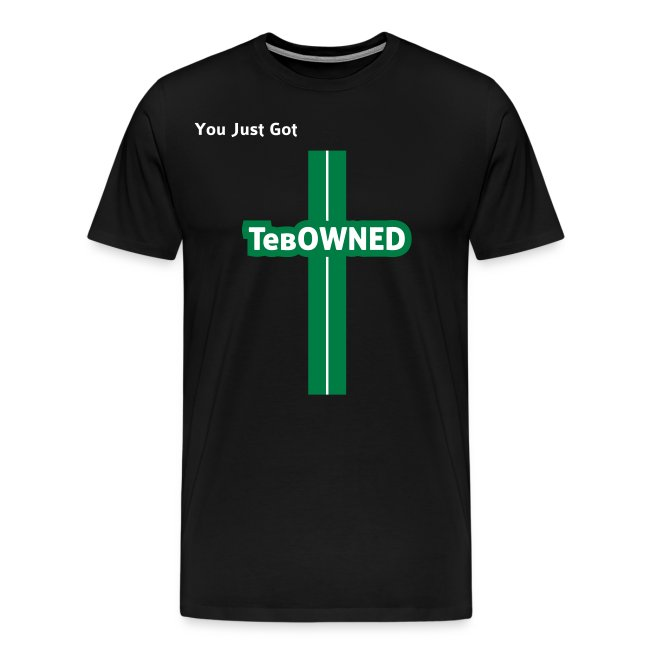 Tribute - TebOWNED Crucifix - Mens T-Shirt