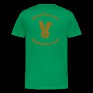 T-Shirts ~ Men's Premium T-Shirt ~  Tribute - TebOWNED Crucifix - Mens T-Shirt