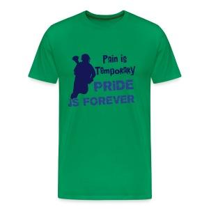 Pain is Temporary (lacrosse) Men's Heavyweight T-Shirt - Men's Premium T-Shirt