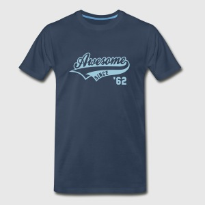 Awesome SINCE 1962 - Birthday Anniversaire T-Shirt HN - Men's Premium T-Shirt