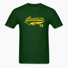 Awesome SINCE 1972 - Birthday Anniversaire T-Shirt YG