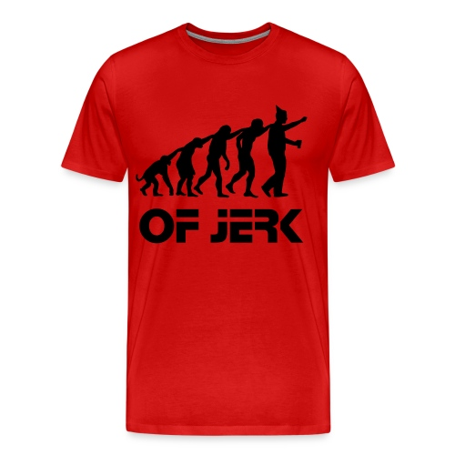 Evolution Of Jerk  Red Tee - Men's Premium T-Shirt