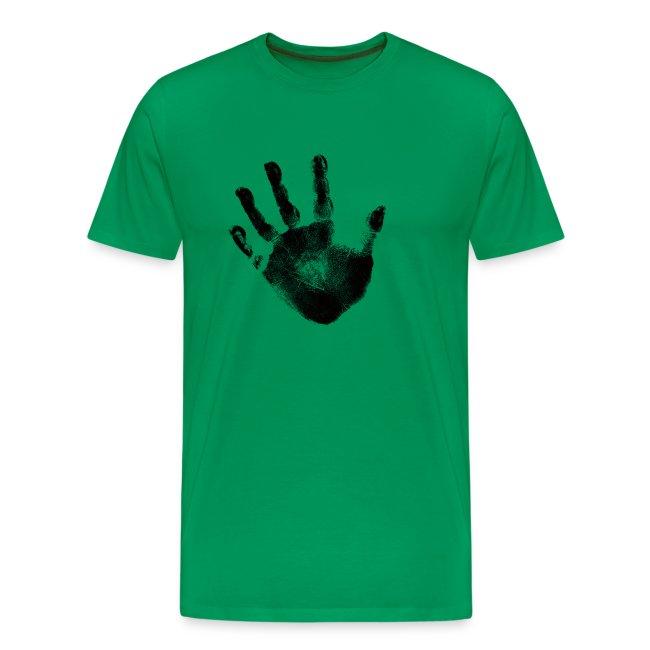 6580b77a4a8f Black Handprint Graphic Design for Men and Teen Short Sleeve Tee Shirt