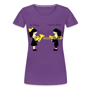 Band -Horn-Bone Women's Plus T Shirt - Women's Premium T-Shirt