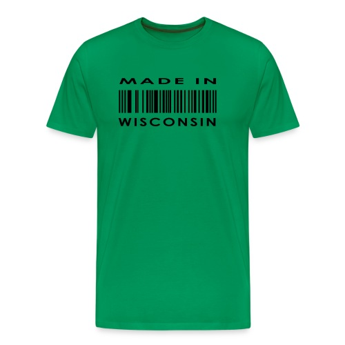 Made In Wisconsin, Found on Water Street - Men's Premium T-Shirt