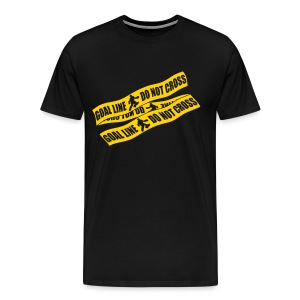 Goal Line Do Not Cross (field hockey) Men's Heavyweight T-Shirt - Men's Premium T-Shirt