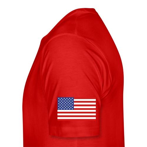 Hatcher 28 T-shirt - Established 2002, name/number, Chicago flag, USA flag - Men's Premium T-Shirt