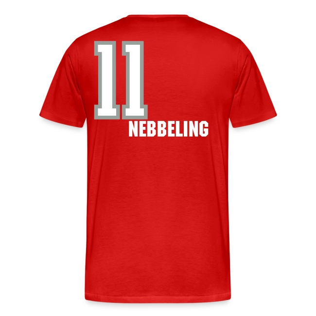 Nebbeling 11 T-shirt - Established 2002, name/number, Chicago flag, USA flag