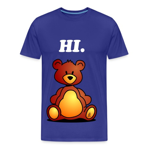 Mens Hi Teddy Bear - Men's Premium T-Shirt