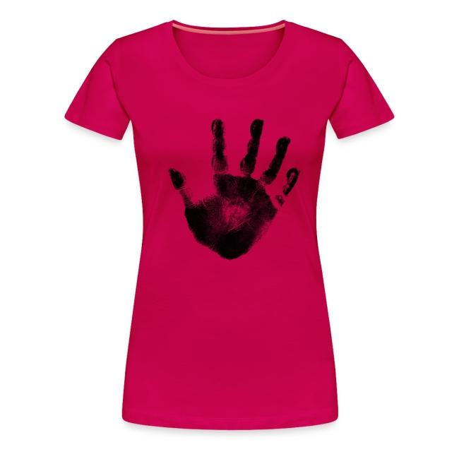 032256a7b1c Black Handprint Graphic Design Plus Size Tshirt
