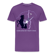T-Shirts ~ Men's Premium T-Shirt ~ Climb upon my trusty steed