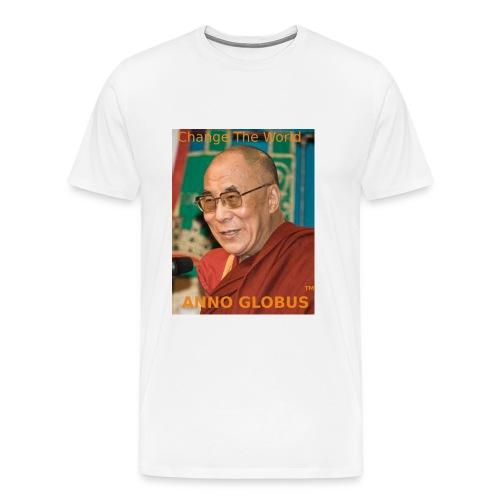 anno globus - dalai lama-orange t-shirt - Men's Premium T-Shirt