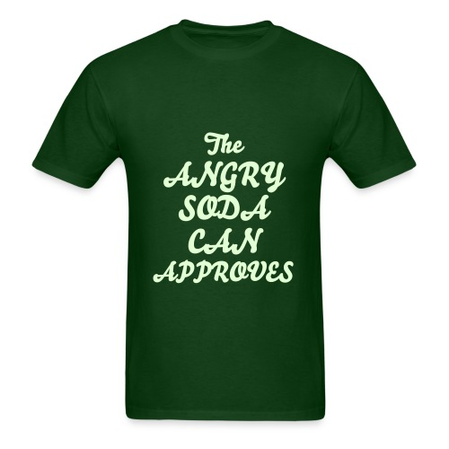 AngrySodaCanApproves - Men's T-Shirt