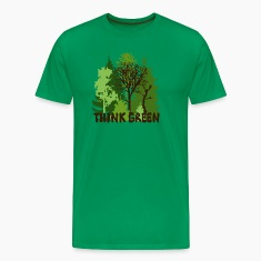 EARTHDAYCONTEST Earth Day Think Green forest trees wilderness mother nature T-Shirts